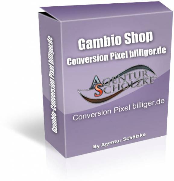 Plugin Gambio Conversion Pixel zu billiger.de